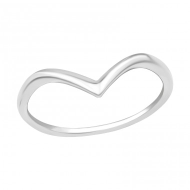 V Shaped - 925 Sterling Silver Rings for kids A4S40280