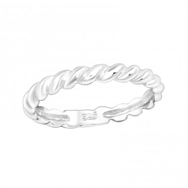 Rope shaped - 925 Sterling Silver Rings For Kids A4S40312