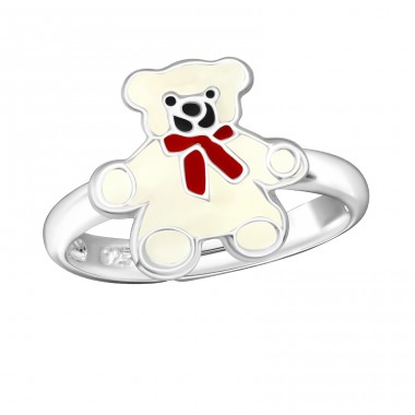 Bear - 925 Sterling Silver Rings for kids A4S4804