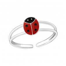 Ladybug - 925 Sterling Silver Rings for kids A4S509