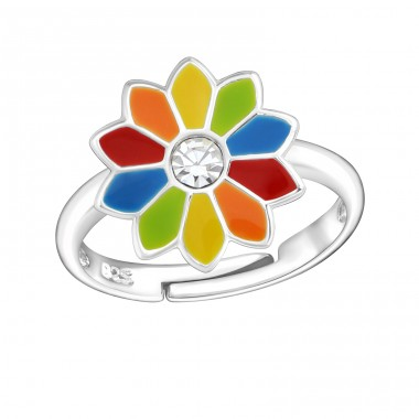Flower - 925 Sterling Silver Rings for kids A4S5569