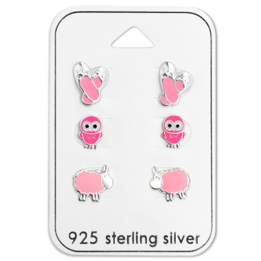 Pink - 925 Sterling Silver Jewellery sets for kids A4S28473