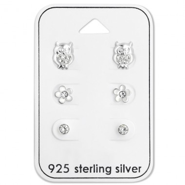 Crystal - 925 Sterling Silver Jewellery sets for kids A4S28476