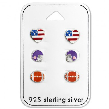 American Football - 925 Sterling Silver Jewellery sets for kids A4S28480