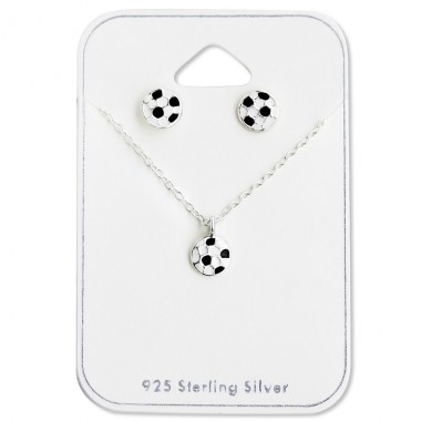 Football - 925 Sterling Silver Jewellery sets for kids A4S28971