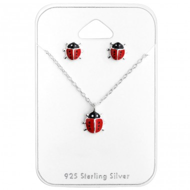 Ladybird - 925 Sterling Silver Sets Necklace With Earrings A4S28974