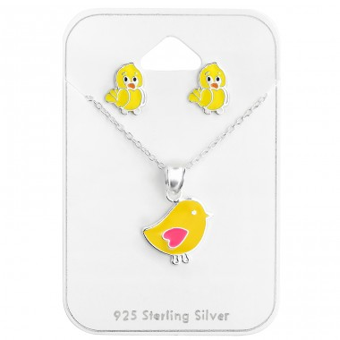 Chicken - 925 Sterling Silver Jewellery sets for kids A4S28976