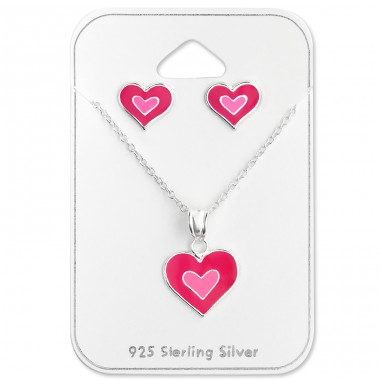 Heart - 925 Sterling Silver Jewellery sets for kids A4S28978