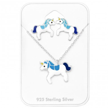 Unicorn - 925 Sterling Silver Jewellery sets for kids A4S28981