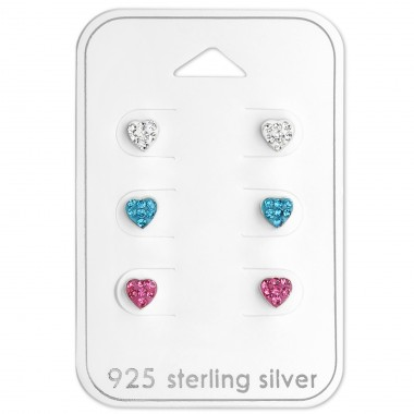 Hearts - 925 Sterling Silver Jewellery Sets For Kids A4S29112