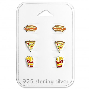 Food Lovers - 925 Sterling Silver Jewellery sets for kids A4S29117