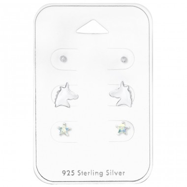 Unicorn - 925 Sterling Silver Jewellery sets for kids A4S33226