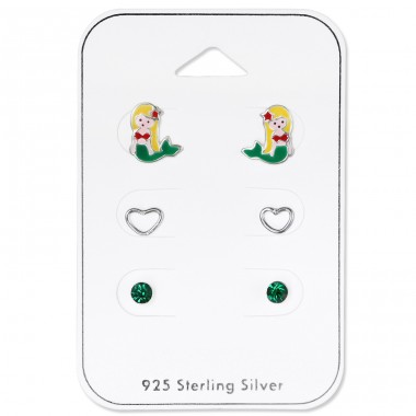 Mermaid - 925 Sterling Silver Jewellery sets for kids A4S33242