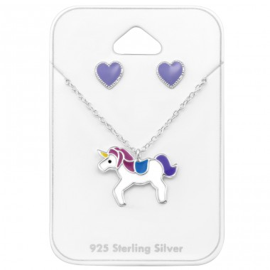 Unicorn  - 925 Sterling Silver Jewellery Sets For Kids A4S33935