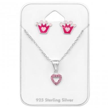 Princess - 925 Sterling Silver Jewellery sets for kids A4S33936