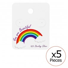 Rainbow Ear Stud Cards - Paper Jewellery sets for kids A4S34076