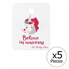 Believe In Unicorns Ear Stud Cards - Paper Jewellery sets for kids A4S34078