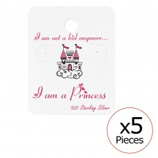 Princess Ear Stud Cards - Paper Jewellery sets for kids A4S34079