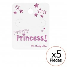 Pretty Princess Ear Stud Cards - Paper Jewellery sets for kids A4S34080