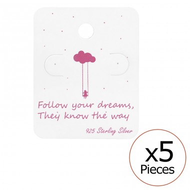 Follow Your Dreams Ear Stud Cards - Paper Jewellery sets for kids A4S34081