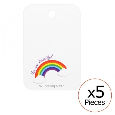 Rainbow Necklaces Cards - Paper Sets Necklace with Earrings A4S35831