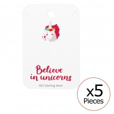Believe In Unicorns Ear Studs Cards - Paper Sets Necklace with Earrings A4S35833