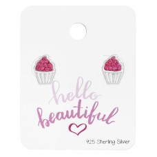 Cupcake - 925 Sterling Silver Jewellery sets for kids A4S38077