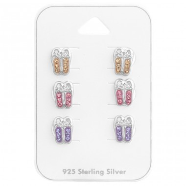 Ballerina Shoes - 925 Sterling Silver Jewellery sets for kids A4S38080