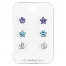 Flower - 925 Sterling Silver Jewellery sets for kids A4S38081