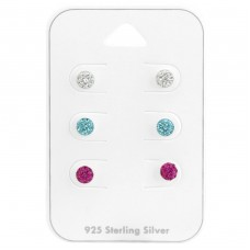 Round - 925 Sterling Silver Jewellery sets for kids A4S38083