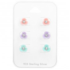 Flower - 925 Sterling Silver Jewellery sets for kids A4S38456
