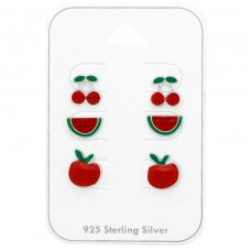 Fruit - 925 Sterling Silver Jewellery sets for kids A4S38714