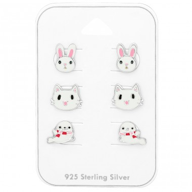 Animal - 925 Sterling Silver Jewellery sets for kids A4S38715