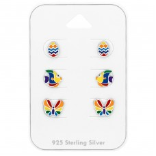 Colorful - 925 Sterling Silver Jewellery sets for kids A4S38724