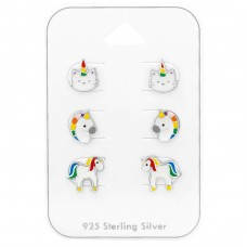 Unicorn - 925 Sterling Silver Jewellery sets for kids A4S38727