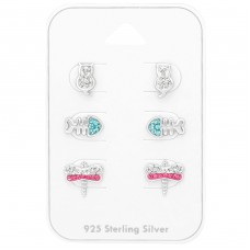 Animal - 925 Sterling Silver Jewellery sets for kids A4S38729