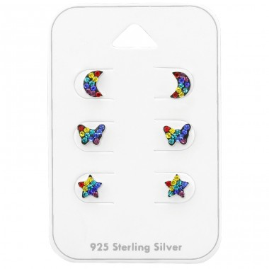 Rainbow - 925 Sterling Silver Jewellery sets for kids A4S38734