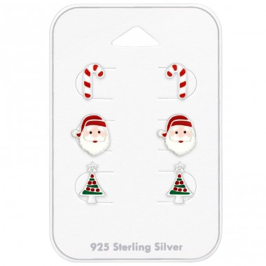 Christmas set on card - 925 Sterling Silver Jewellery Sets For Kids A4S39707