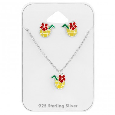Pineapple Juice - 925 Sterling Silver Jewellery sets for kids A4S39728
