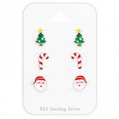 Christmas on card - 925 Sterling Silver Jewellery Sets For Kids A4S41480