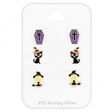 Halloween jewellery on card - 925 Sterling Silver Jewellery Sets For Kids A4S41481