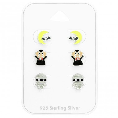 Halloween for kids on card - 925 Sterling Silver Jewellery Sets For Kids A4S41485