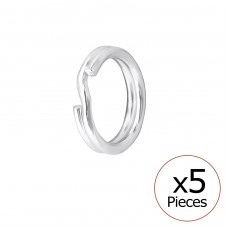 Split Ring - 925 Sterling Silver Silver jewelry accessories A4S32691