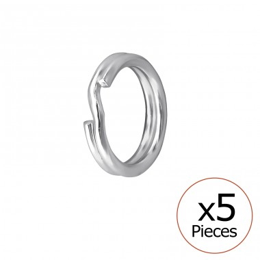 Split Ring - 925 Sterling Silver Silver jewelry accessories A4S32692