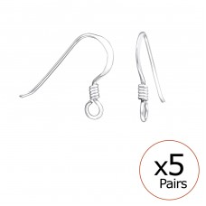 Fish Hook - 925 Sterling Silver Silver jewelry accessories A4S33925