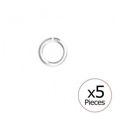 Silver 4mm Open Hoop - 925 Sterling Silver Silver jewelry accessories A4S35091
