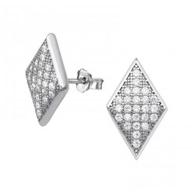 Trapezoid - 925 Sterling Silver Silver Heavy A4S20419