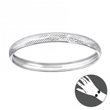 Round - 925 Sterling Silver Silver Heavy A4S22448