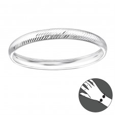 Round - 925 Sterling Silver Silver Heavy A4S22450
