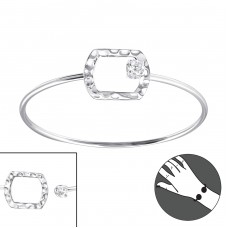 Rectangle - 925 Sterling Silver Silver Heavy A4S22962